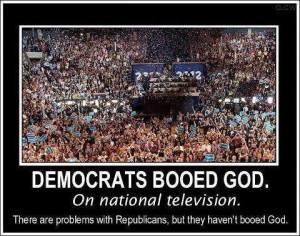 Democrats booed God