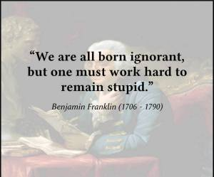 ben franklin on stupidity