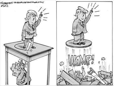 gop vs Trump